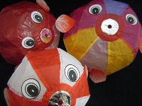 ふぐ(3点セット) 紙風船