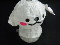 白い犬 紙風船