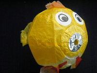 ふぐのミニ紙風船(黄)