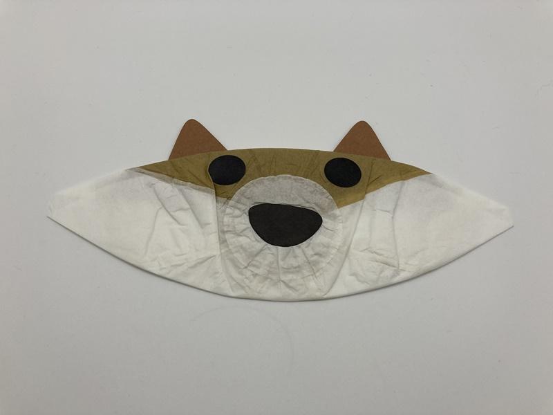 紙ふうせん 柴犬